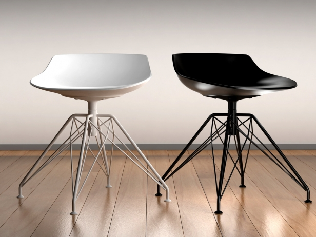 Flow stool sgabello 4 gambe lem mdf italia myhomeshop.it